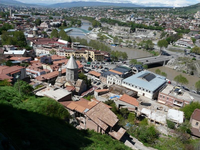 Panorama Tbilisi zabytki Gruzja