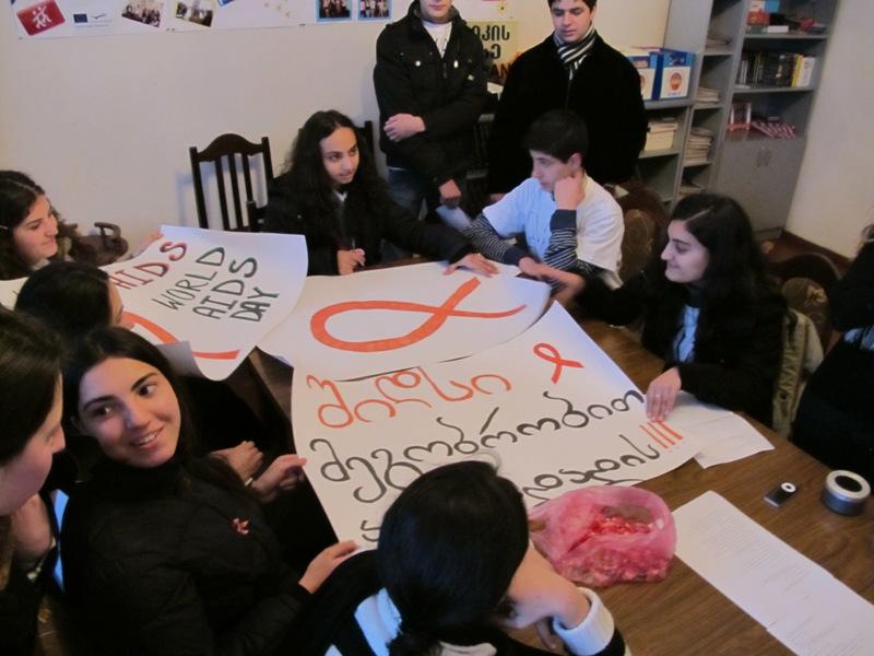 AIDS Gruzja Akhaltsikhe młodzież