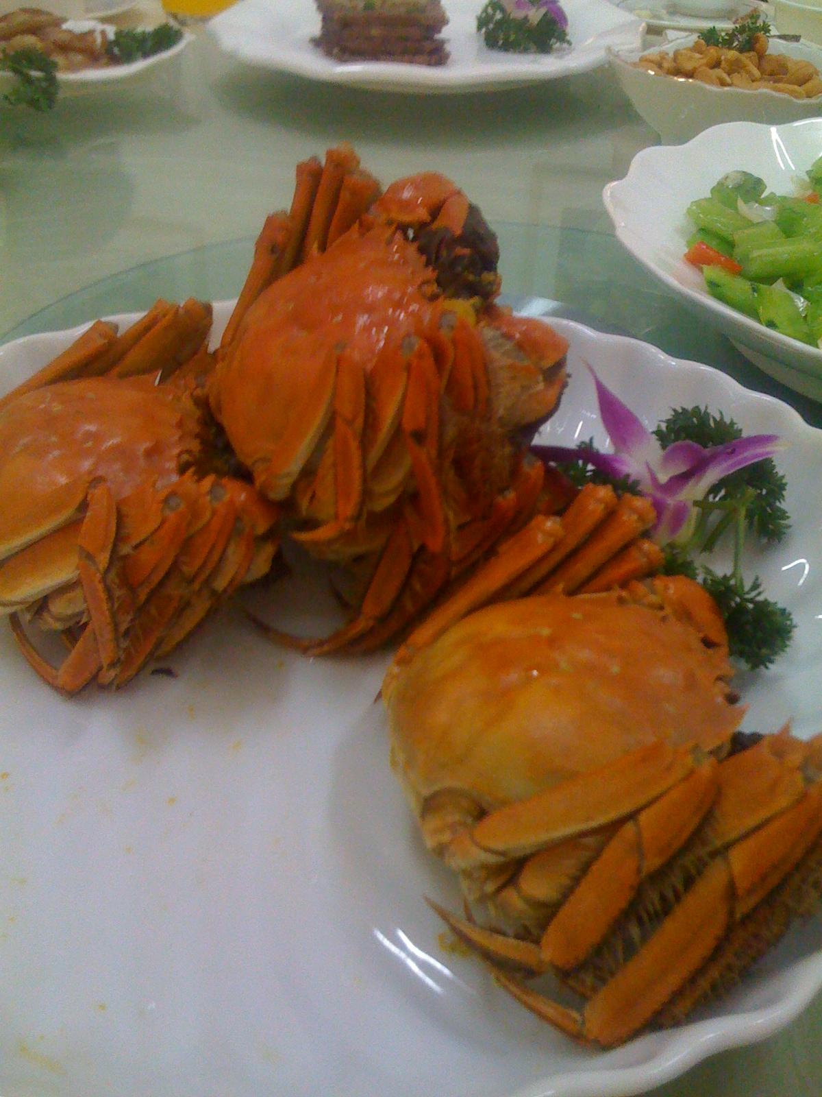 Chiny, kuchnia chińska, jedzenie w Chinach, kraby, kraby w Chinach, kraby w rękawiczkach, Ma