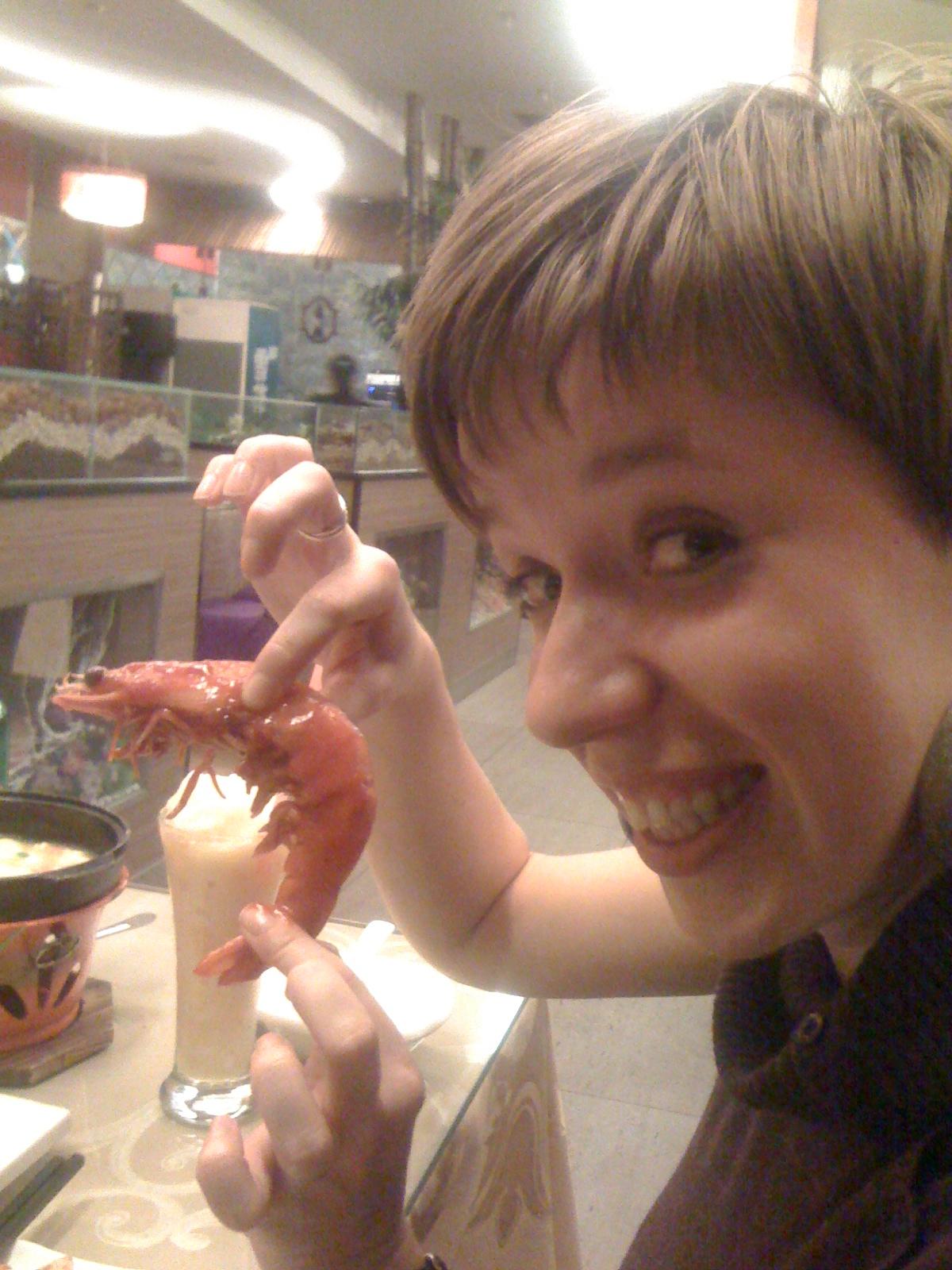 jedzenie w Chinach, kuchnia chińska, Chiny, krewetki w Chinach, owoce morza, Martyna Skura