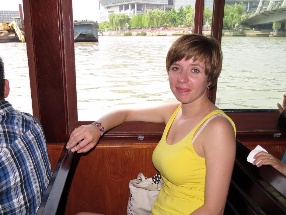 na statku płynącym po Wielkim Kanale
