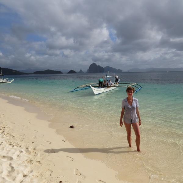 Comando beach - ostatnia wyspa podczas naszej wycieczki, już se powoli zachmurzało