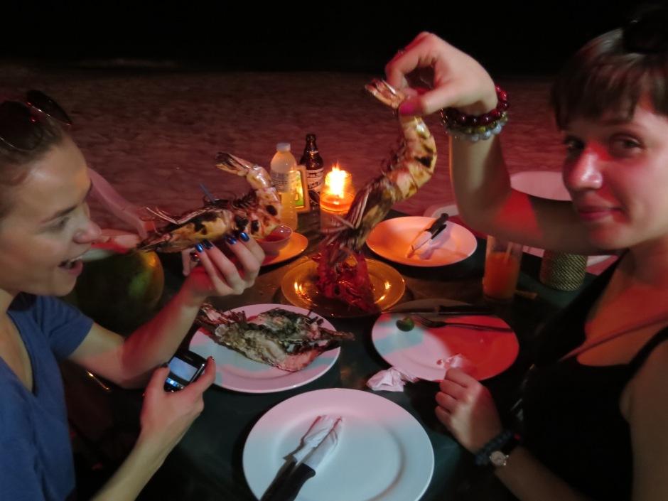 Owoce morza na kolacje