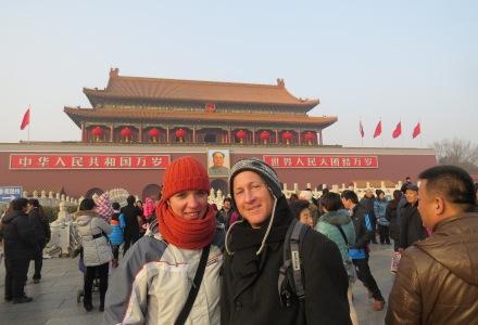 Plac Tiananmen. Mauzoleum Mao. Rewers 100 juanów.