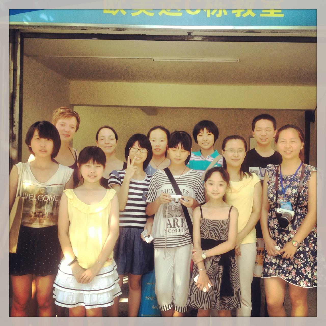 Moje uczniowie podczas letniej szkoły w Yangshuo