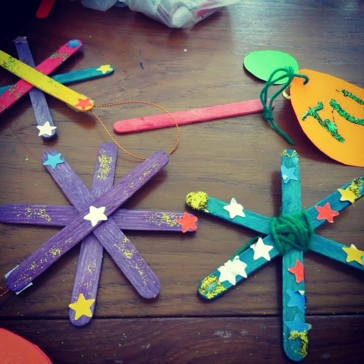 Dekoracje świąteczne wykonane przez dzieci