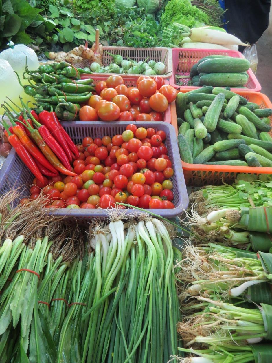 Swieze warzywa podstawa tajskiej kuchni