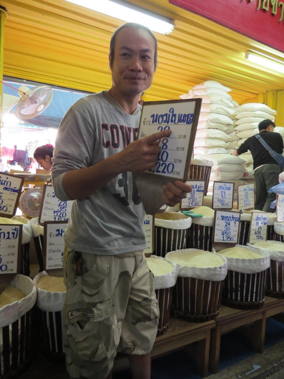 """Do tej pory jedyny gatunek ryżu jaki znałam był """"ryż"""" ;) No może jeszcze ten brązowy i długoziarnisty. Tymczasem w Tajlandii jest ich dużo, ale to dużo więcej."""
