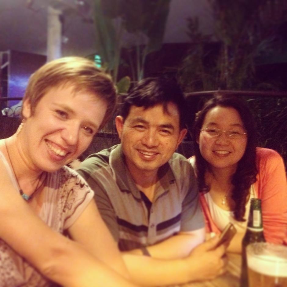 Podczas spaceru w Kuala Lumpur przypadkowo spotkałam starych znajomych z Chin, z Yangshuo! Niesamowite jak świat jest mały!