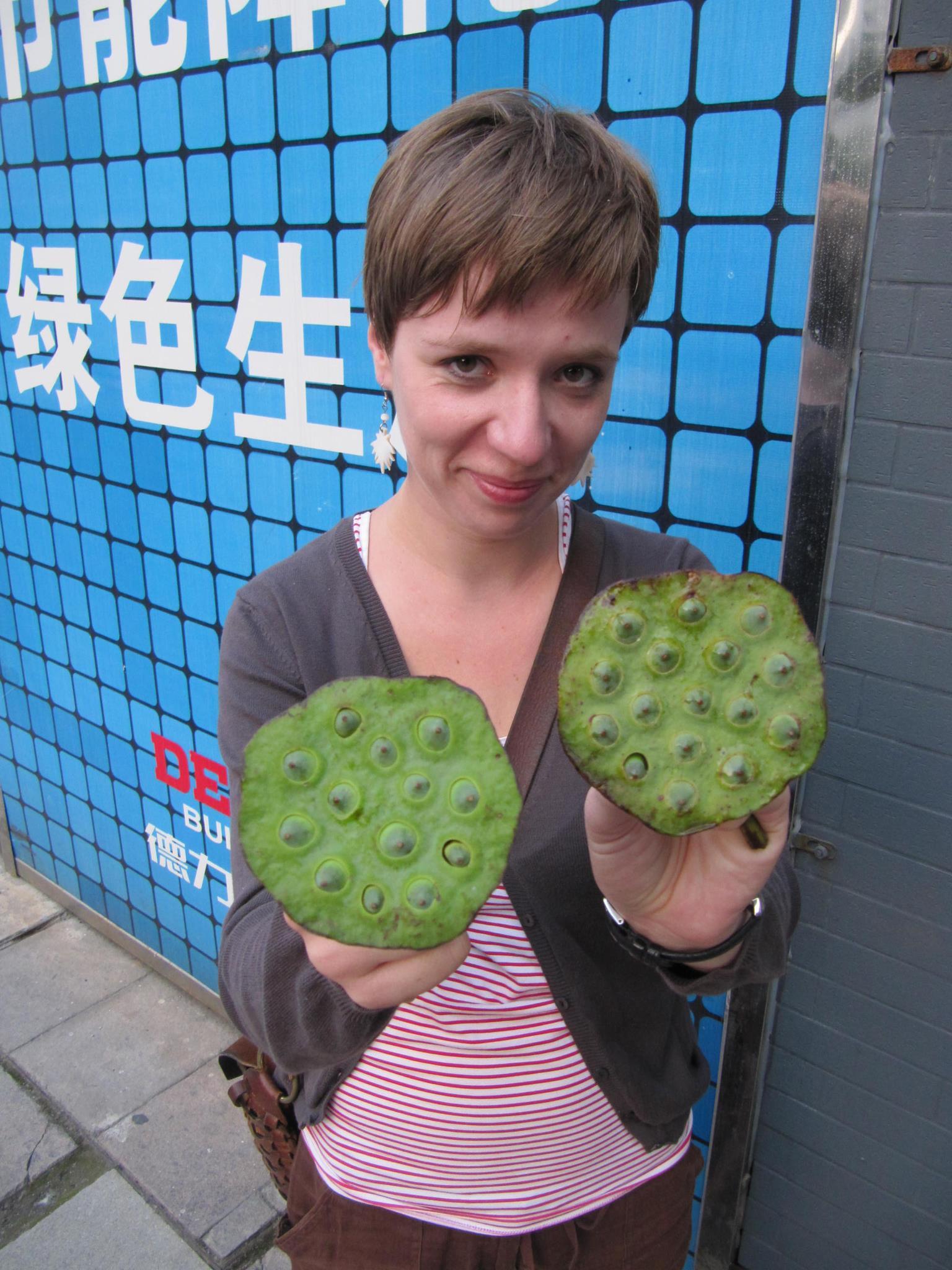 Nasiona lotosu. Nic szczególnego, ale była to lokalna ciekawostka w Hangzhou w Chinach.