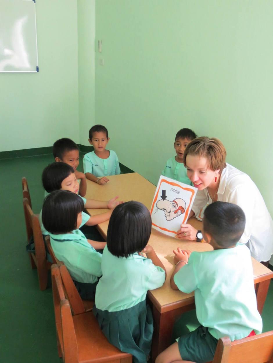 Przedszkolaki w mojej tajskiej wsi.