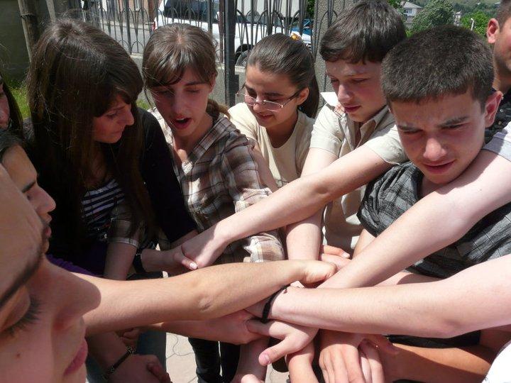 Podczas szkoły letniej w Akhaltsikhe, Gruzja.