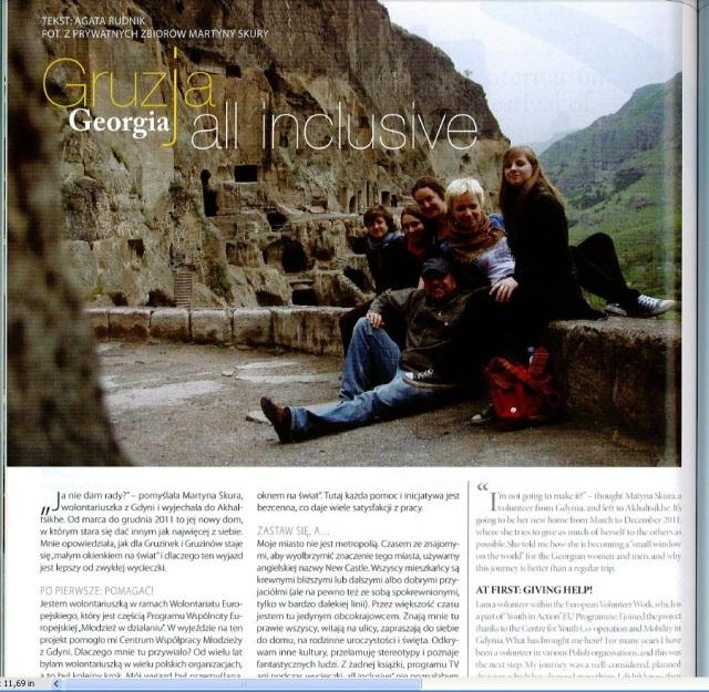 Wycinek z magazyny live & travel, 2011