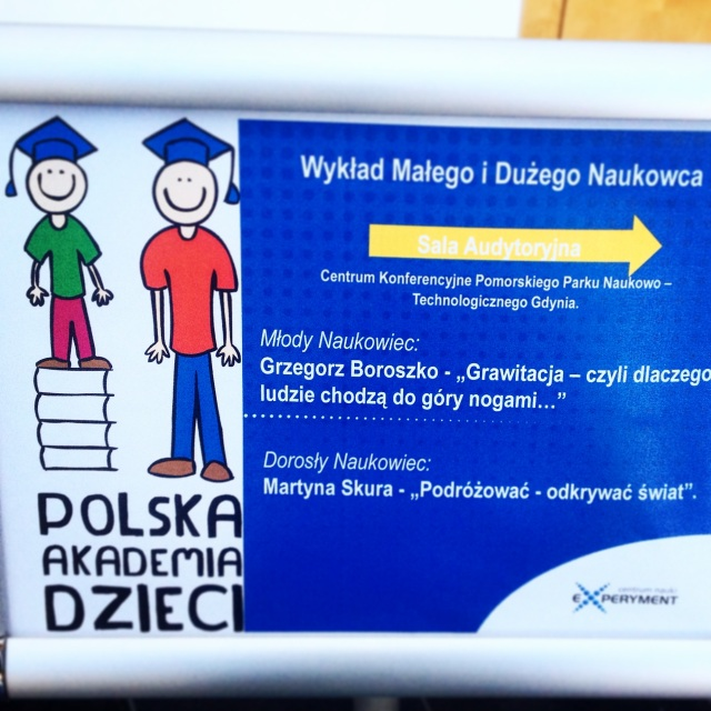Ja jako dorosły naukowiec podczas Polskiej Akademii Dzieci.