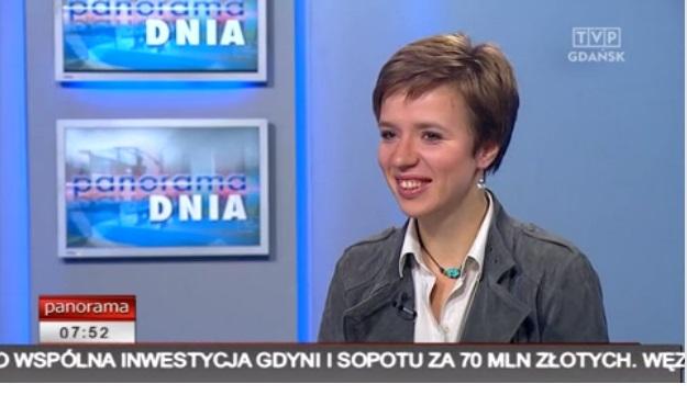 W studiu TVP Gdańsk podczas nagrania na żywo Panoramy,