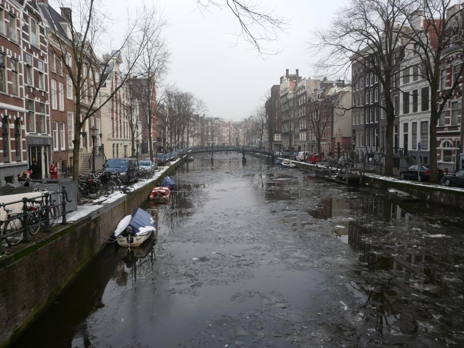 Amsterdam zimą. Zdjęcie z wyjazdu sylwestrowego w 2010.