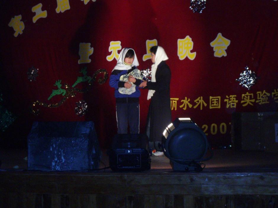 świąteczne występy w Chinach