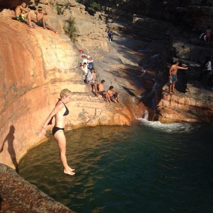 skoki z klifu, Maroko, Agadir