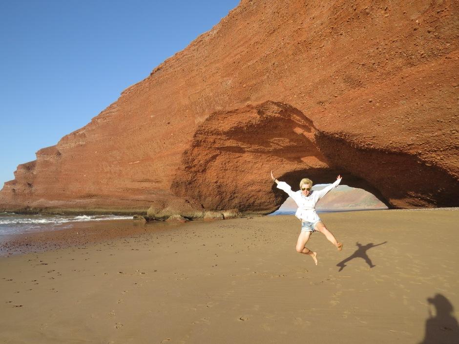 Łuki skalne w Legzirze, Legzira, Sidi Ifni, Maroko, Martyna Skura, blog podróżniczy